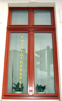 Fenster der Physiotherapie